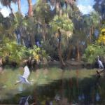 Egrets in Paradise 24 x 30 $15,000.